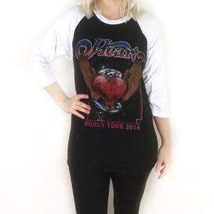 Heart world tour concert tee raglan T-shirt S/M